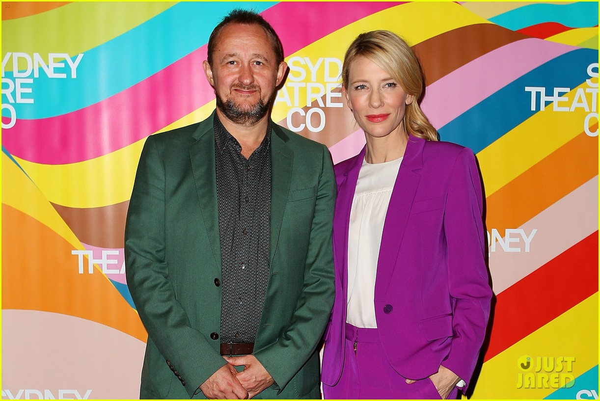 cate blanchett wears bright purple pantsuit sydney theater company 04