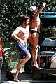 shirtless gerard butler goes surfing with woman 06