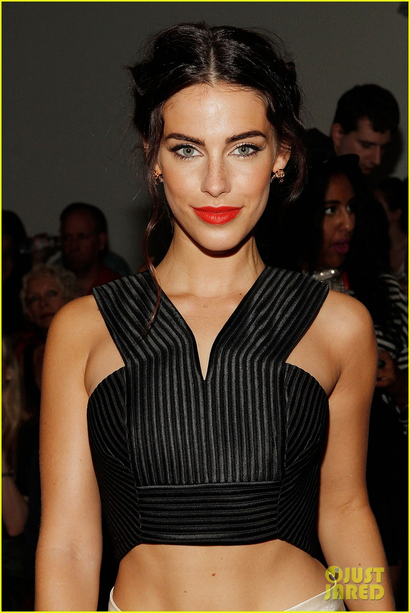 katie cassidy jessica lowndes houghton fashion show 2014 02