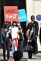 kendall jenner cara delevingne protest after karl largerfield runway 14