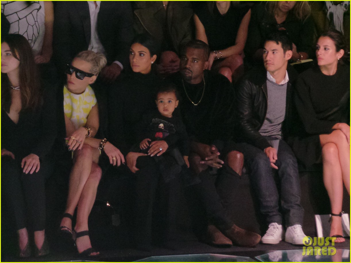 kim kardashian kanye west bring north west to balenciaga 01