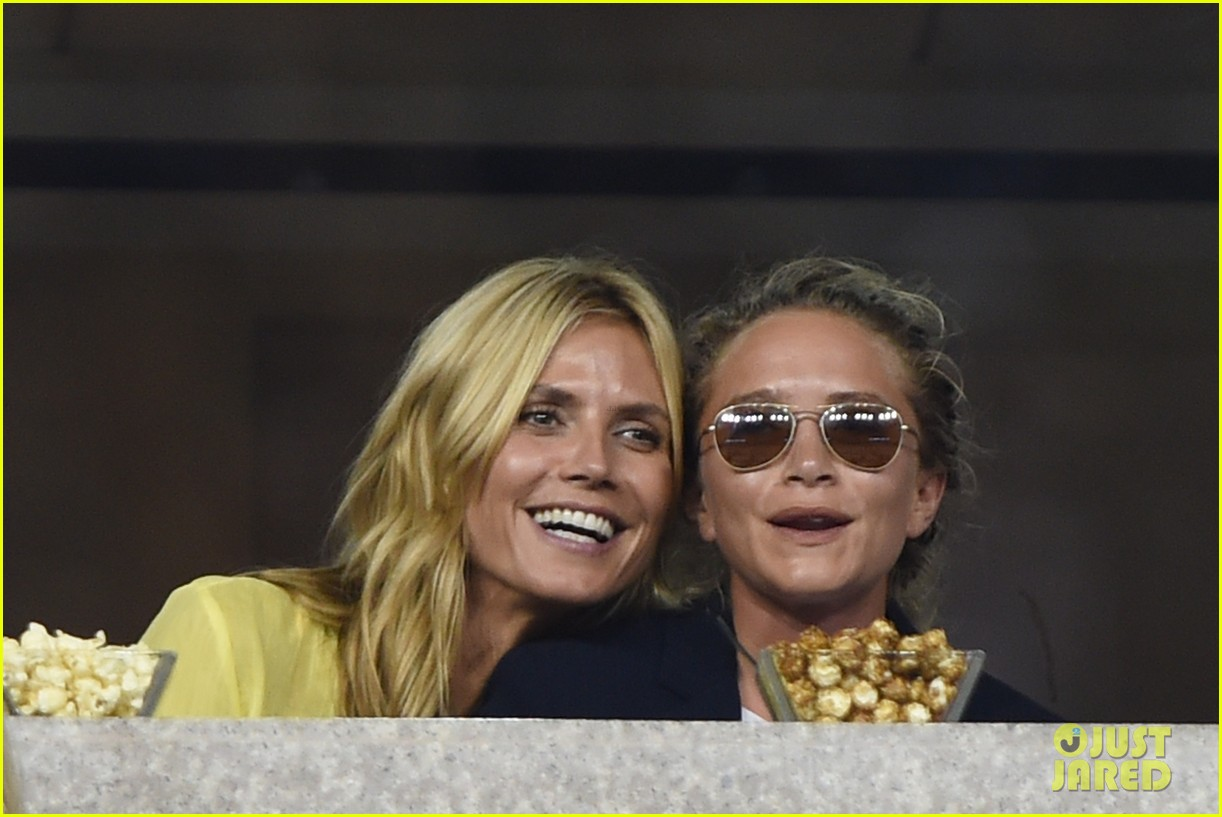 mary kate olsen heidi klum bring they significant others to us open 053187831