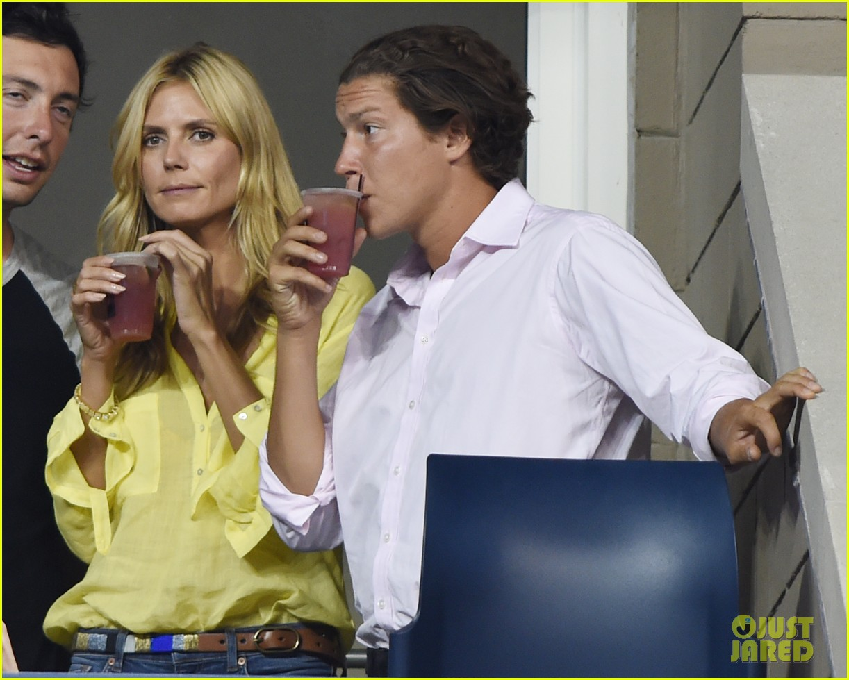 mary kate olsen heidi klum bring they significant others to us open 14