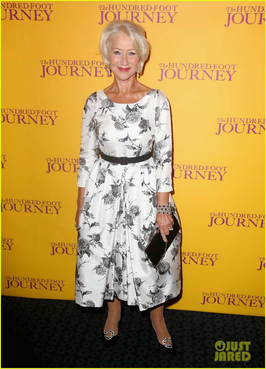 helen mirren joins co stars at hundred foot journey uk gala 023188975