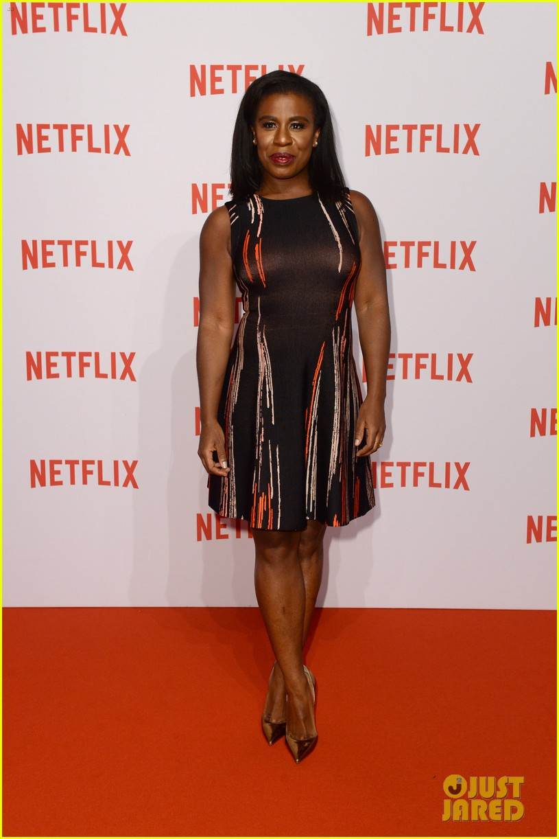Taylor Schilling & 'OITNB' Cast Brighten Up the Red Carpet at Netflix ...