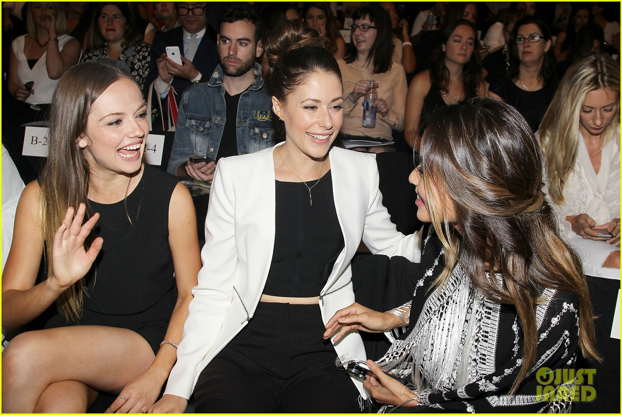 shay mitchell jamie chung bcbg fashion show 2014 123189225