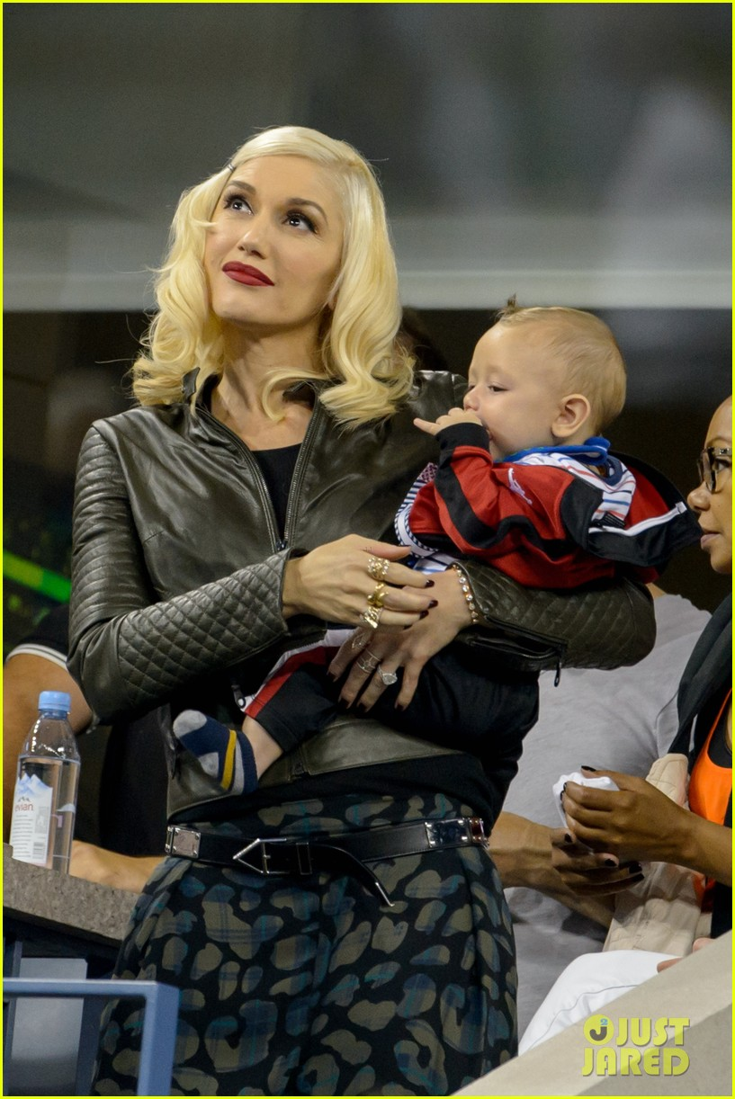 gwen stefani debuts adorably baby boy apollo at the us open 09