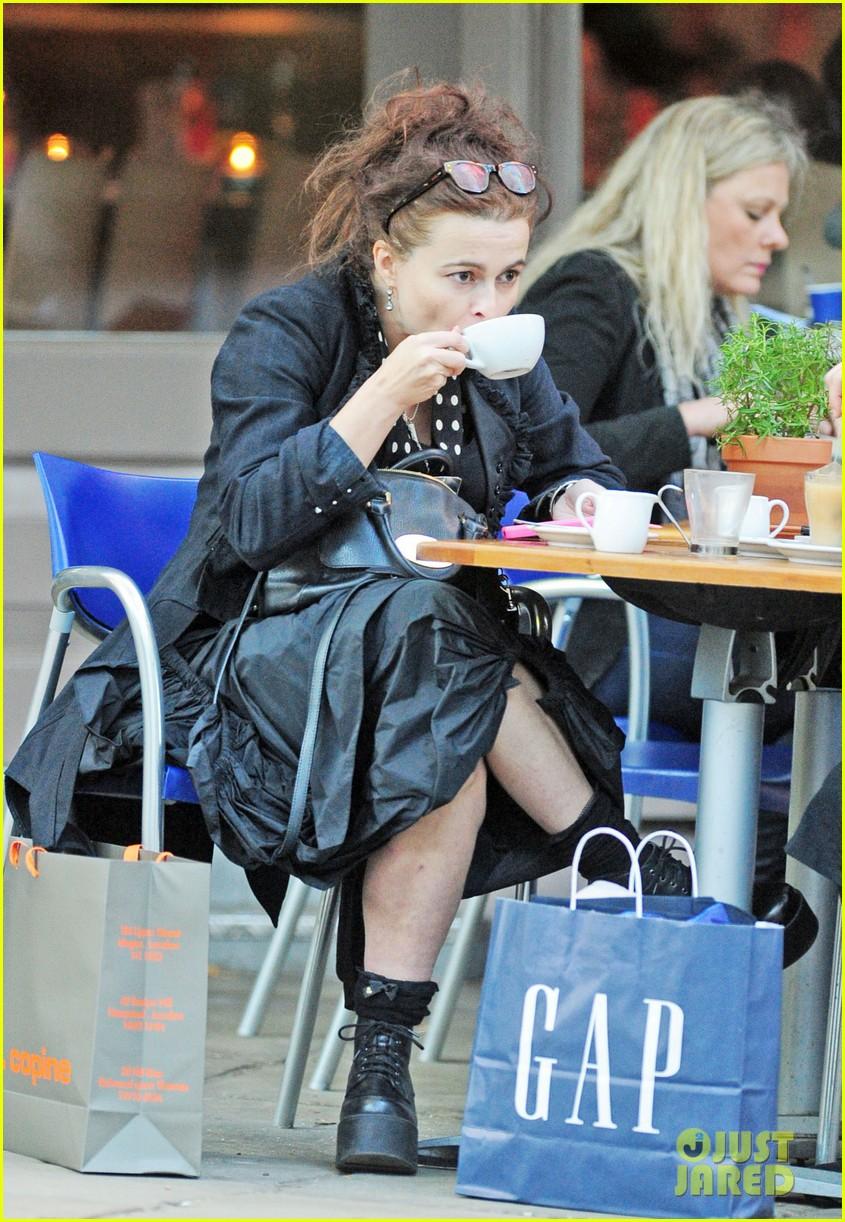 Full Sized Photo of helena bonham carter wears interesting all black ... Helena Bonham Carter