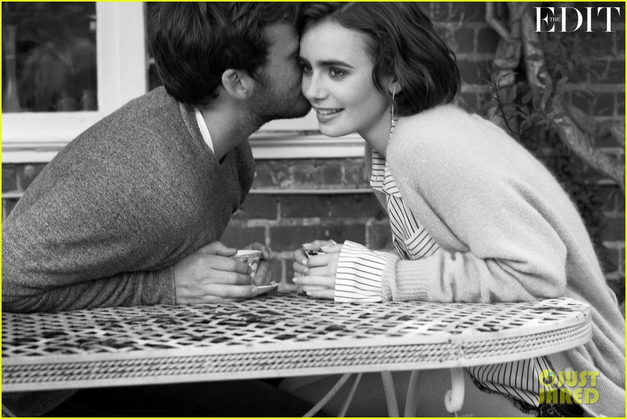Full Sized Photo of lily collins sam claflin net porter ...