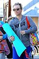 kaley cuoco promotes pet adoption during yoga outing 10