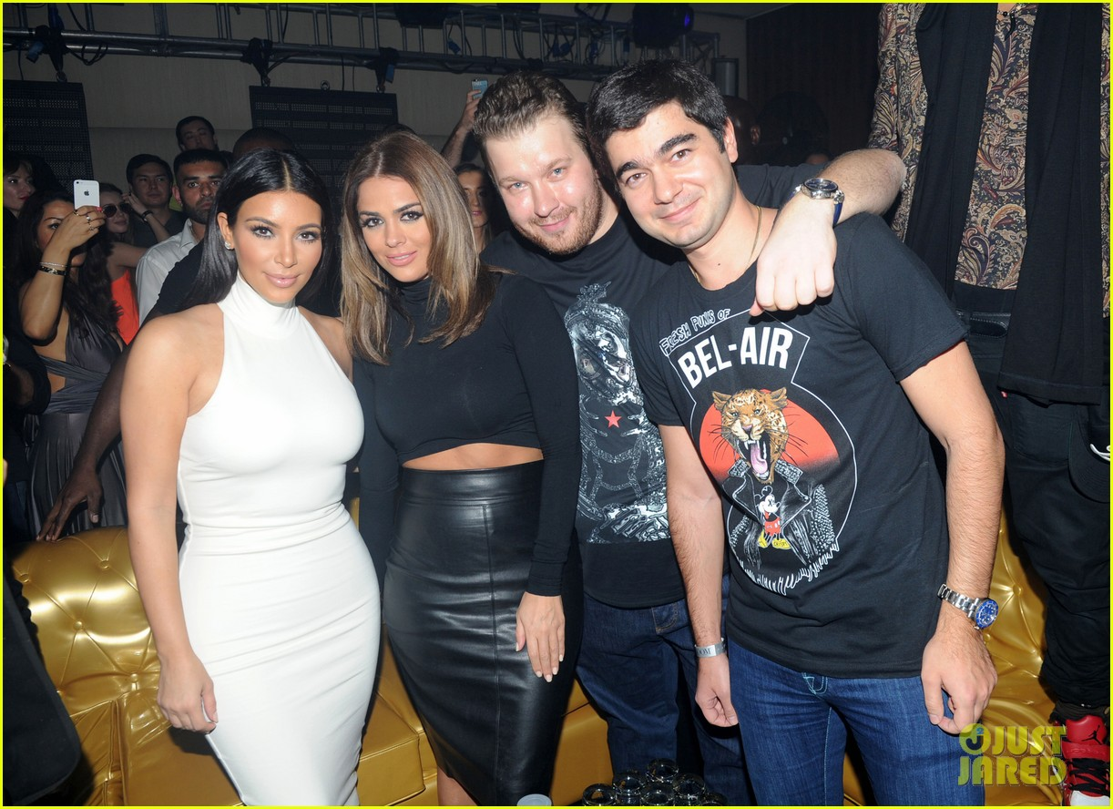 kim kardashian parties with french montana surprises the troops 213249037