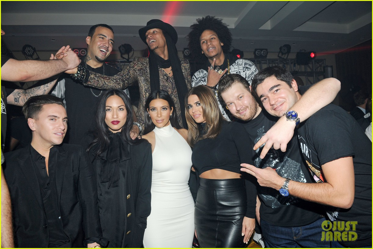 kim kardashian parties with french montana surprises the troops 293249045