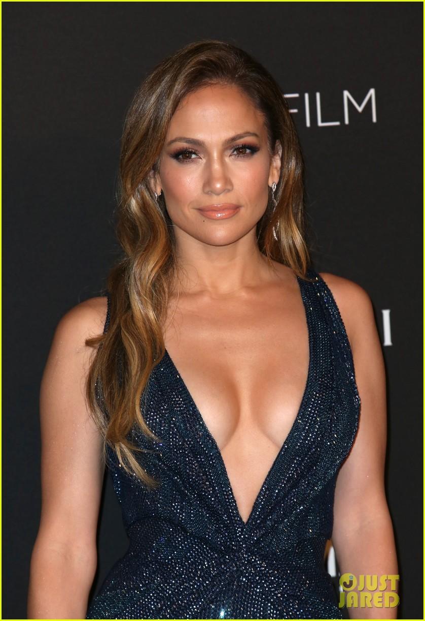 Jennifer Lopez Gets Daring in a Low Cut Dress at the LACMA Art + Film ... Jennifer Lopez
