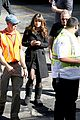 lea michele has father daughter moment on glee set 09