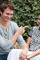 ansel elgort shailene woodley recreate bench poster tfios 15