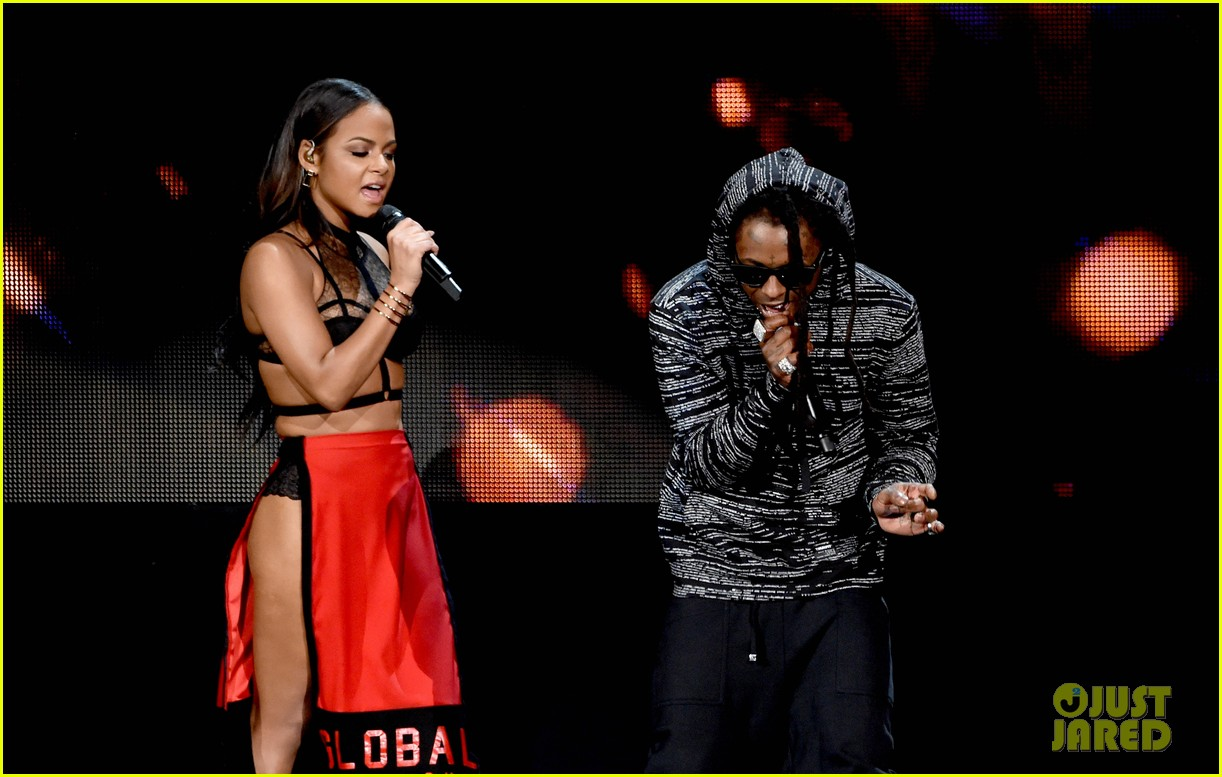 Lil' Wayne & Christina Milian 'Start a Fire' at American ...