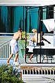 justin bieber goes shirtless at beverly hills mansion 11