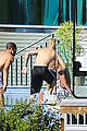 justin bieber goes shirtless at beverly hills mansion 16