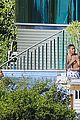 justin bieber goes shirtless at beverly hills mansion 26