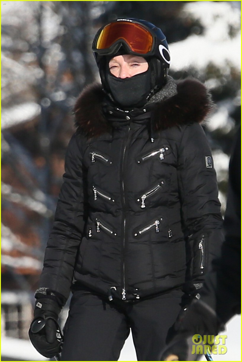 Madonna skiing in Gstaad