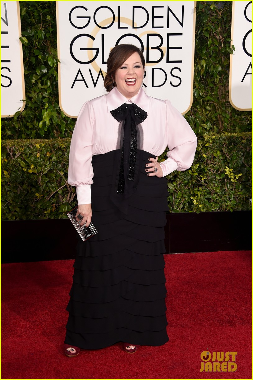 Full Sized Photo Of Melissa Mccarthy Golden Globes 2015 Red Carpet 03 Photo 3278136 Just Jared