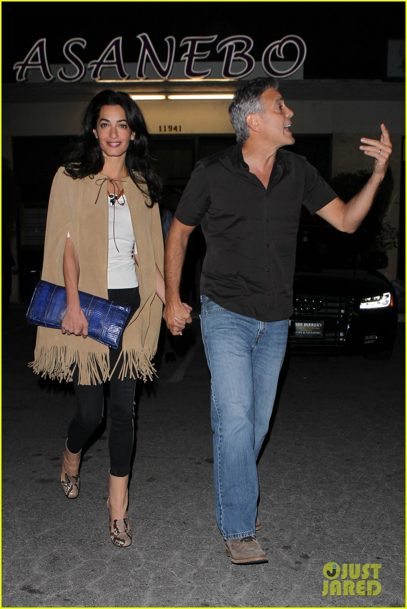 George and Amal Clooney Their First Valentine's Day George-clooney-amal-valentines-day-07