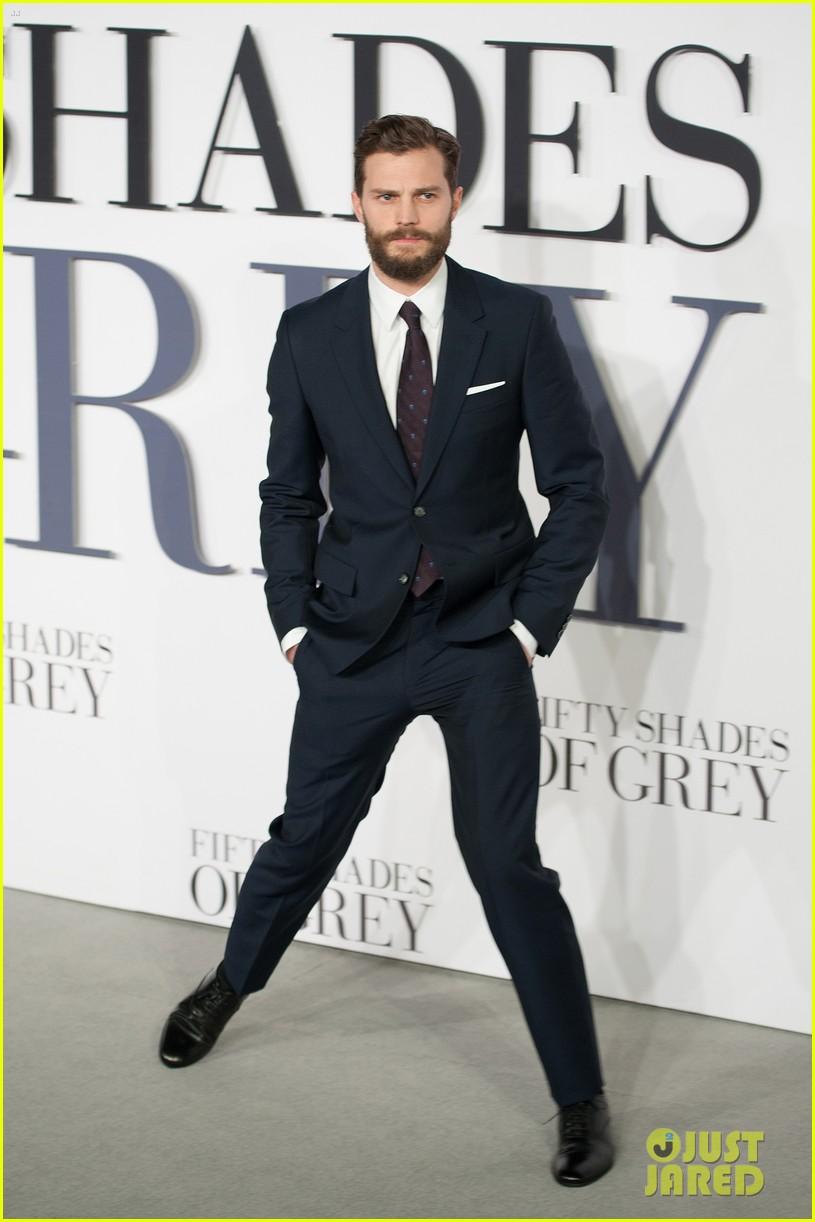Dornan &; dakota johnson premiere 'fifty shades of grey' in london