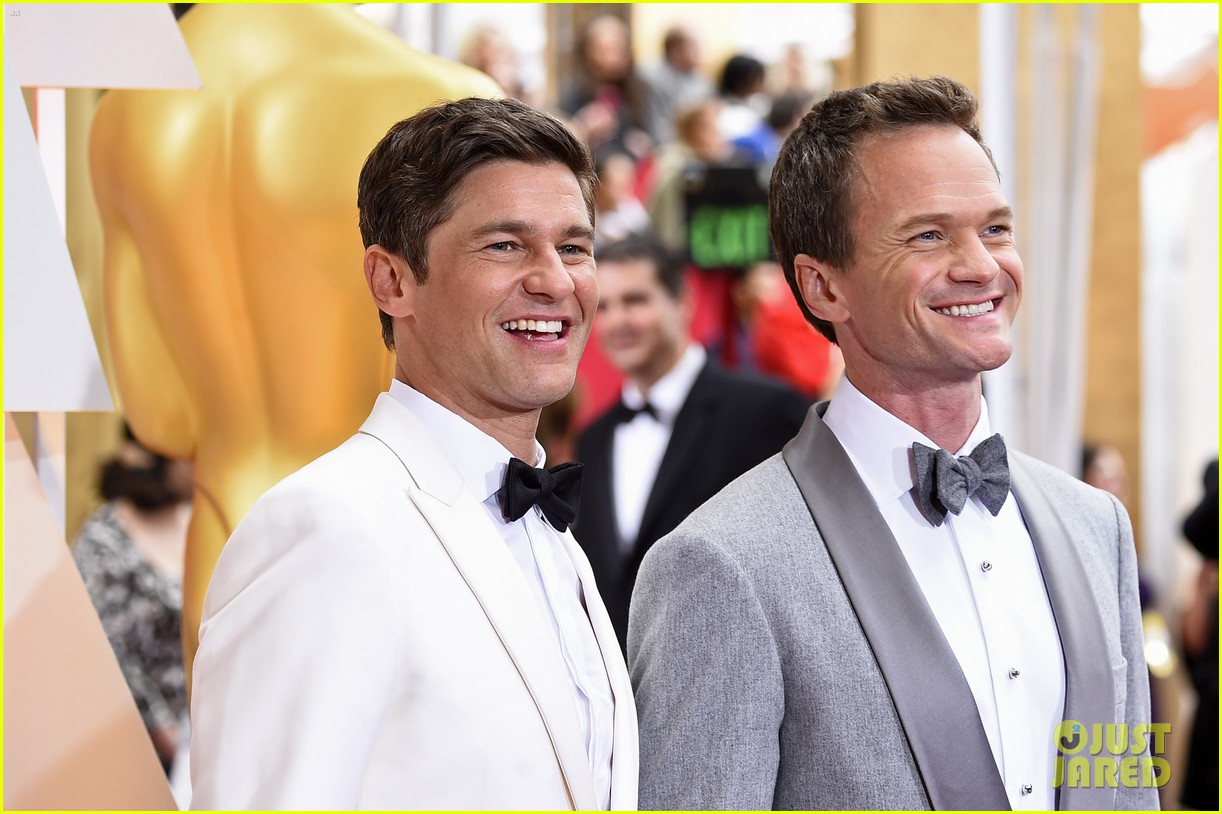 Host Neil Patrick Harris & Husband David Burtka Arrive For