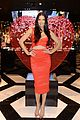 adriana lima red hot cleavage baring dress 05