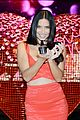 adriana lima red hot cleavage baring dress 06