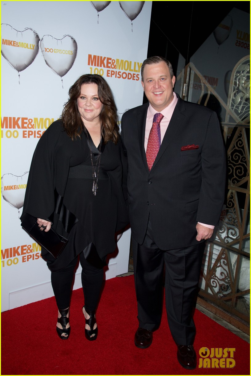 melissa mccarthy billy gardell celebrate mike molly 100th episode 073294011