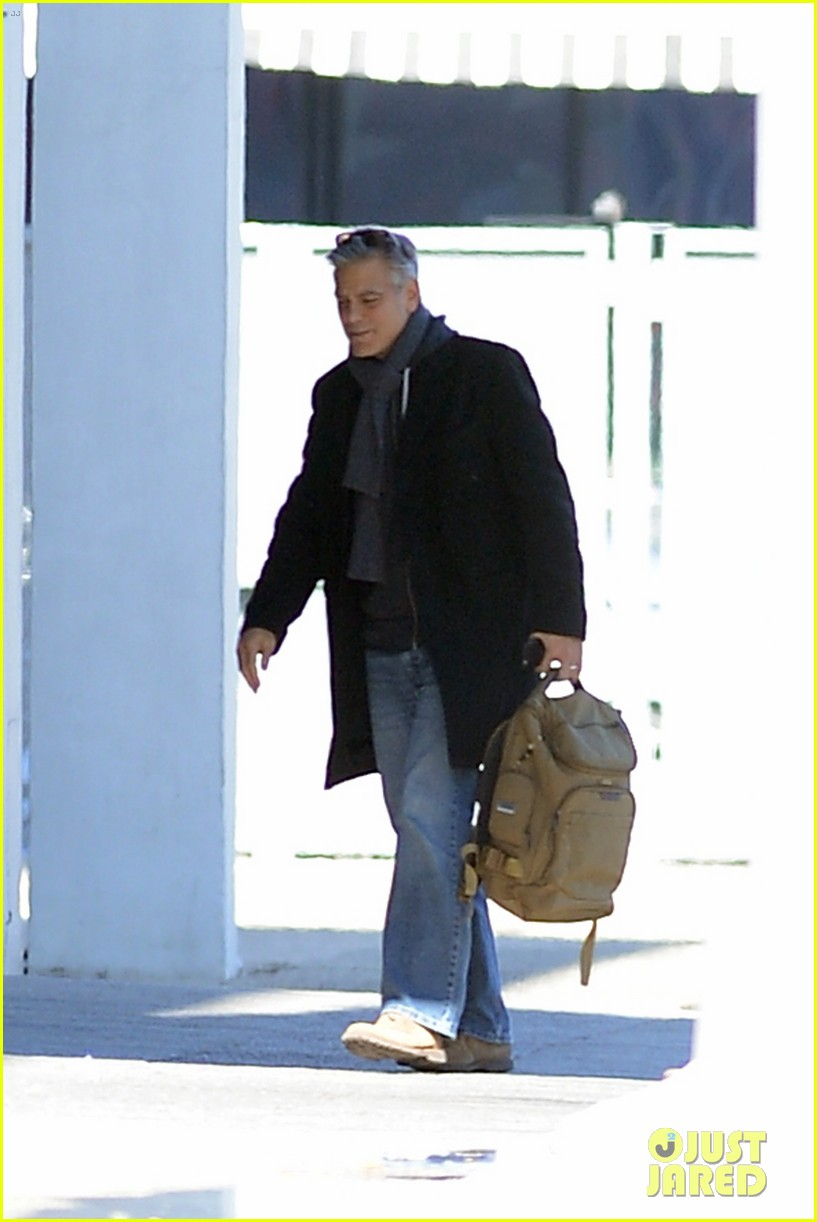 Full Sized Photo Of George Clooney Money Monster Filming