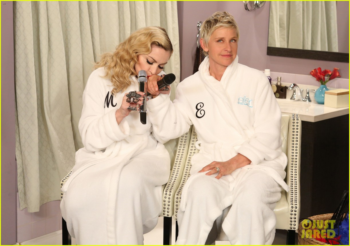 Madonna Amp Ellen Degeneres Sing Dress You Up In Bathroom