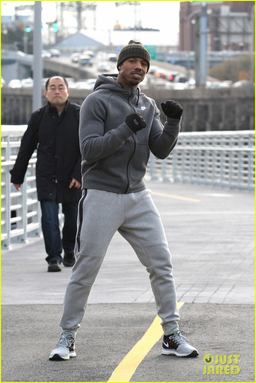 d29e3defb623cf Michael B. Jordan s Fake Bruised Face Looks Real On  Creed  Set  Photo  3327862