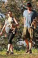 milla jovovich hike with paul ws anderson pregnant 16