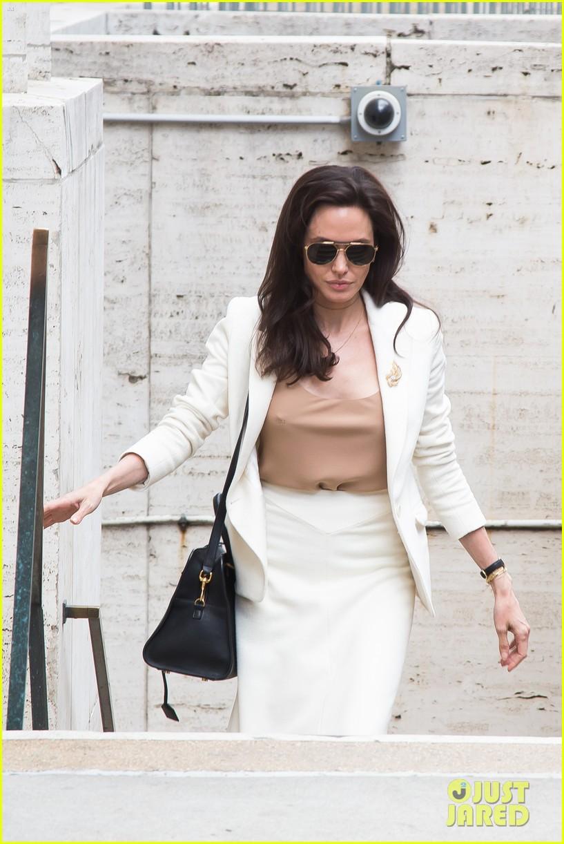 Full Sized Photo of angelina jolie briefs un security ... Angelina Jolie 2017