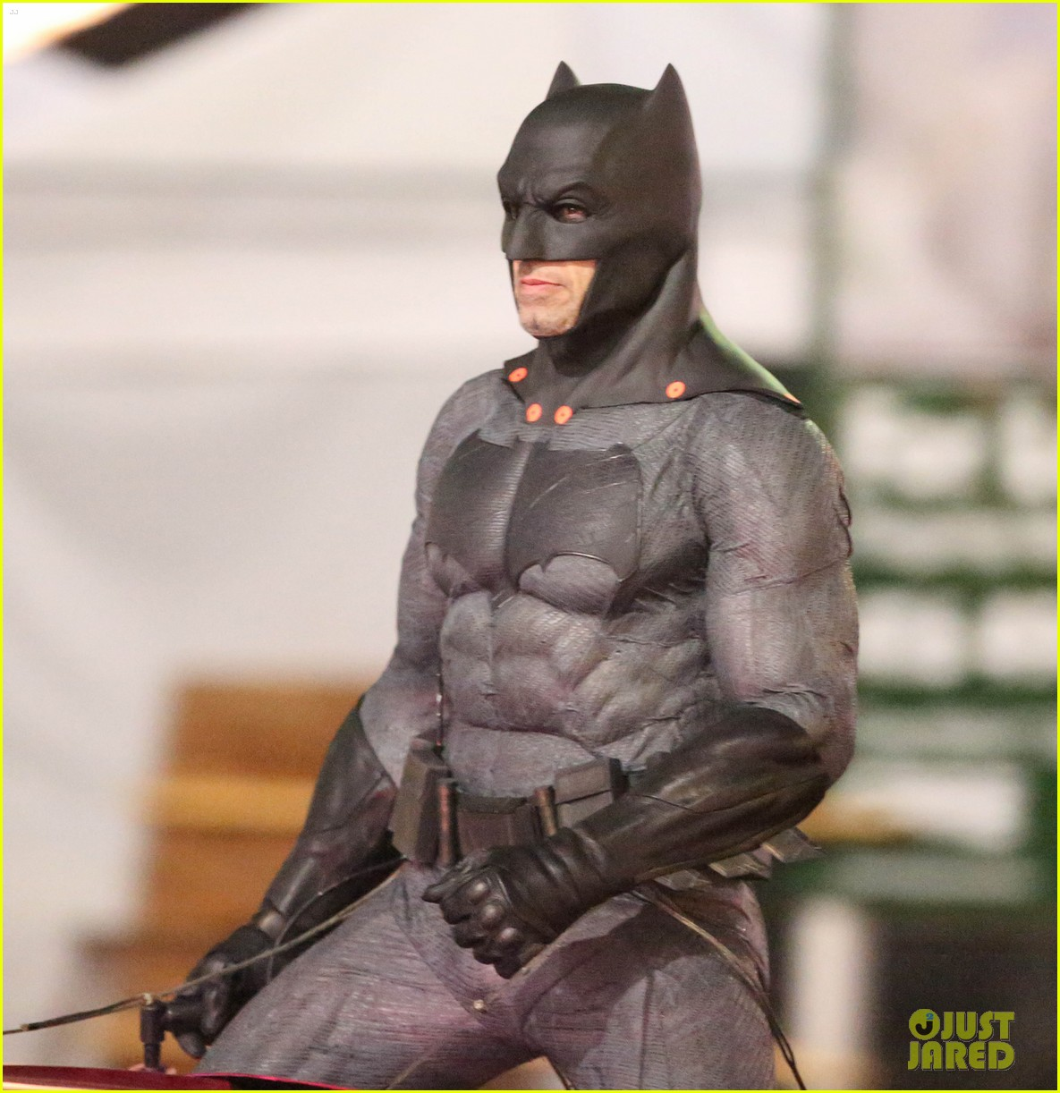 ben affleck 39 s batman chases after jared leto 39 s joker in new 39 suicide squad 39 set photos photo. Black Bedroom Furniture Sets. Home Design Ideas