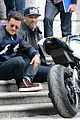 orlando bloom promotes custom bmw motorcycle in italy 11