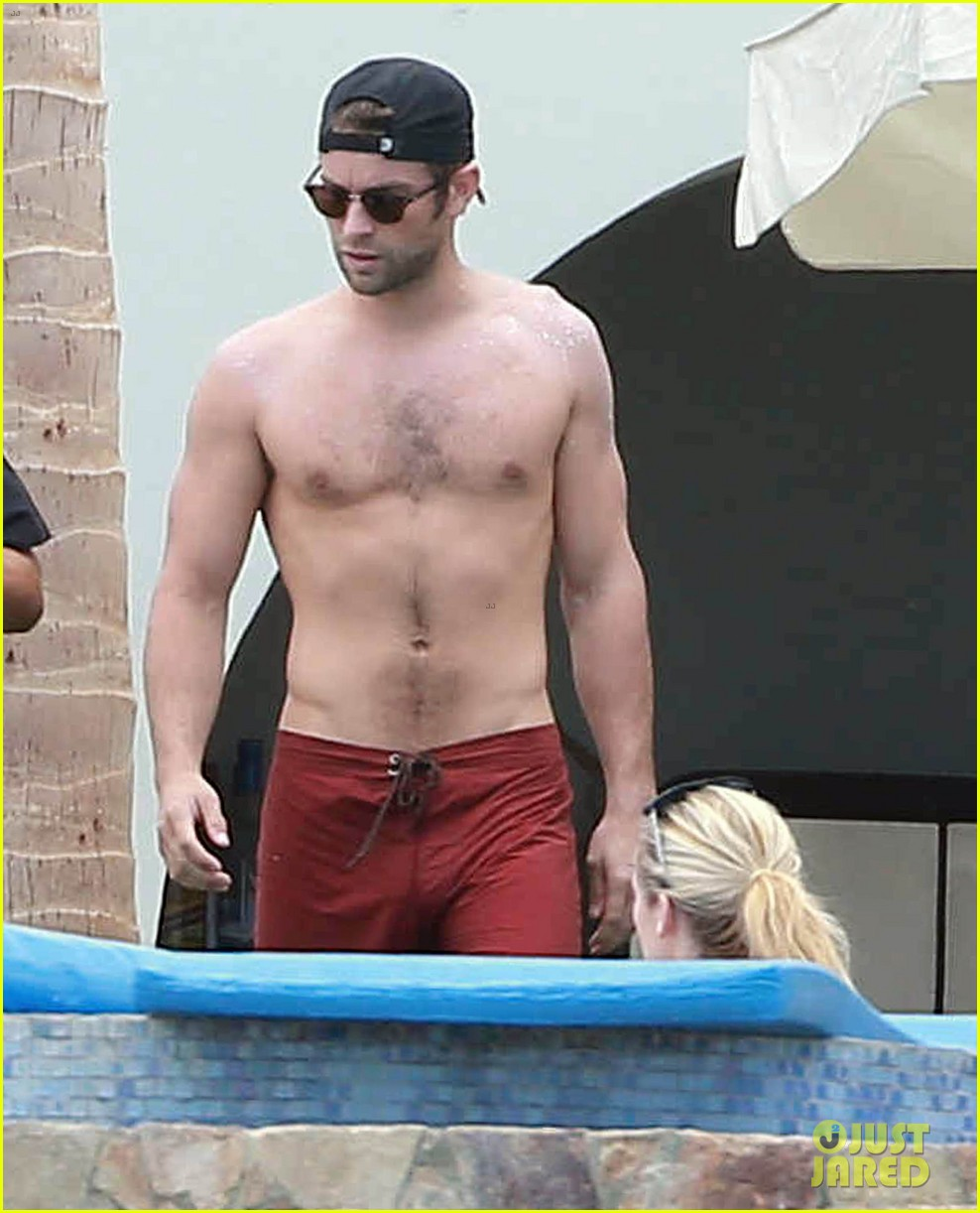 Chace Crawford Shows Off Buff Shirtless Body In Mexico