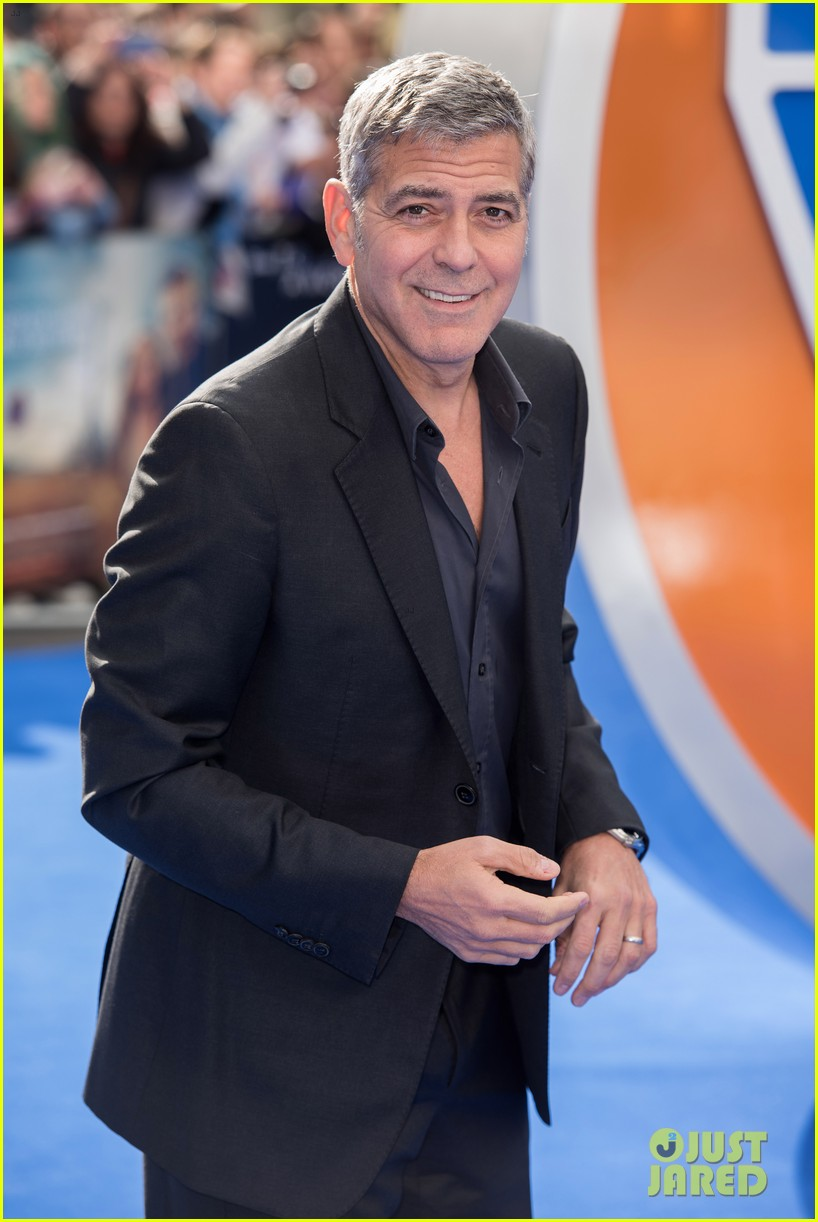 George Clooney at the Tomorrowland Premiere in London 17. May 2015 George-clooney-britt-robertson-tomorrowland-london-08