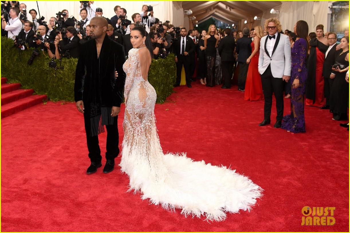 Kim Kardashian Wears Sheer Dress At Met Gala 2015 With Kanye West