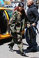 rihanna steps out in camo nyc 08