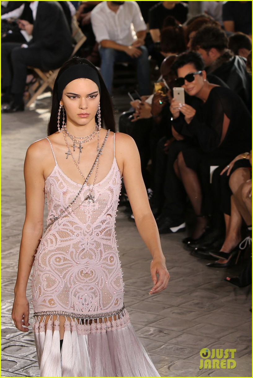 kendall jenner walks givenchy paris before heading london 213403188