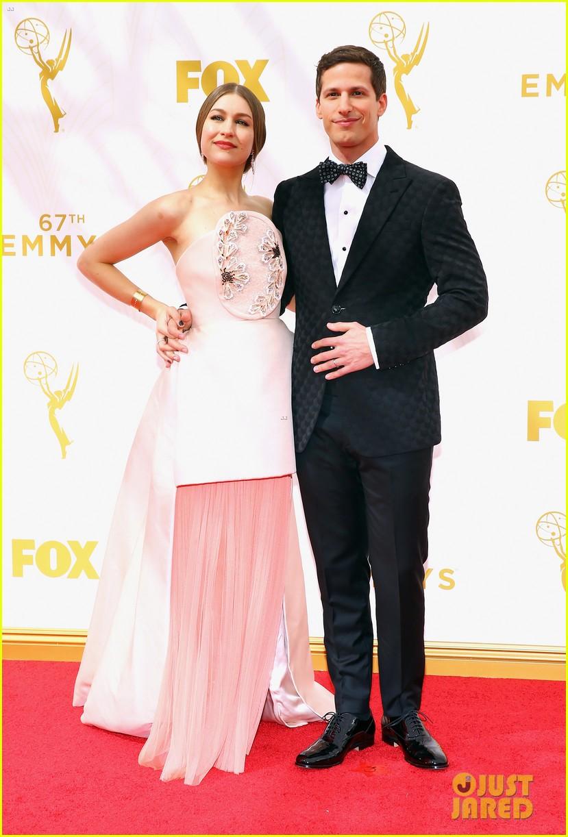 Andy Samberg Wife Joanna Newsom Hit Emmys 2015 Red Carpet Photo