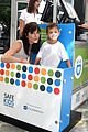 robin thicke selma blair bring their kids to car seat safety 20
