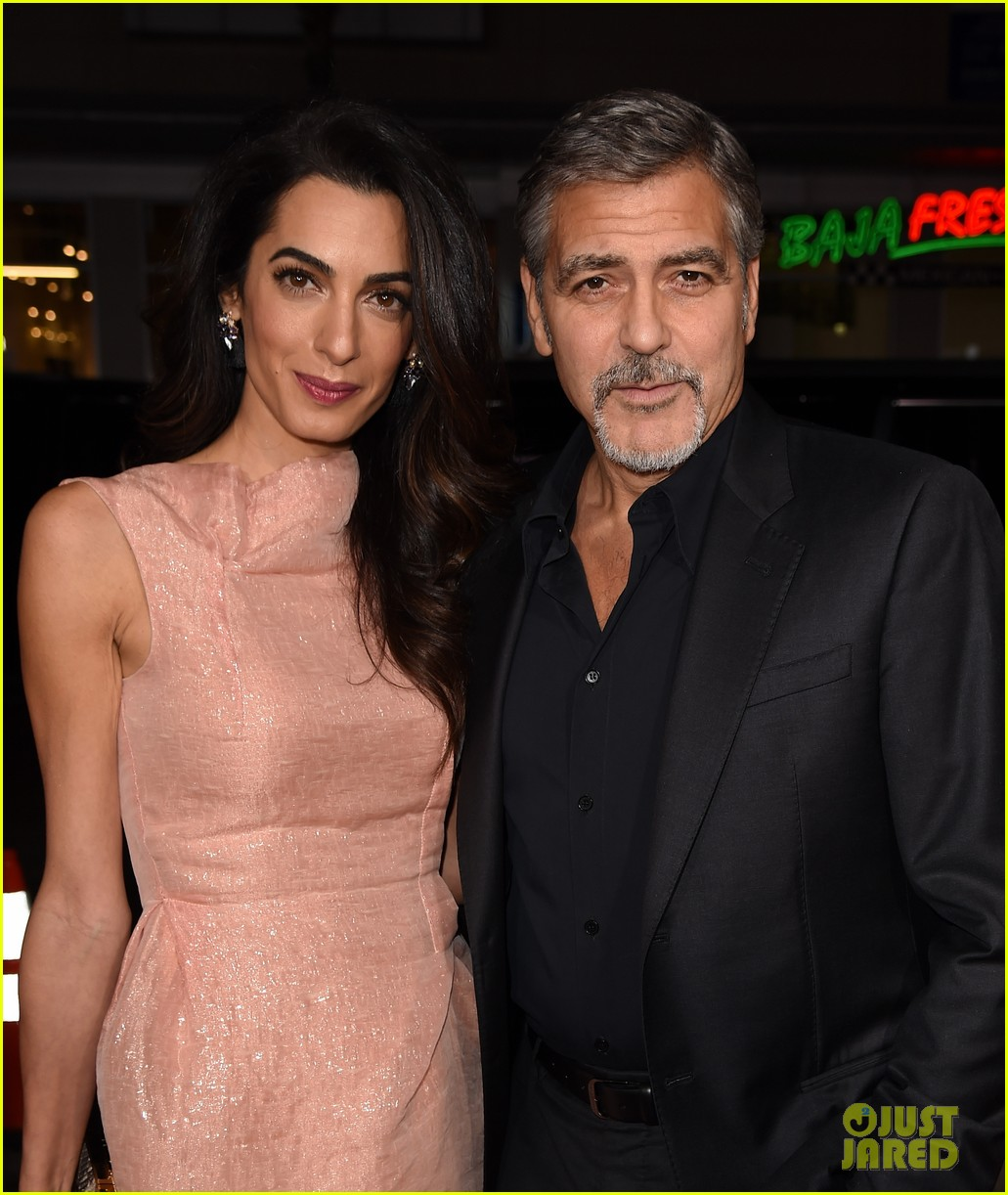 George clooney gets wife amals support at our brand is crisis premiere