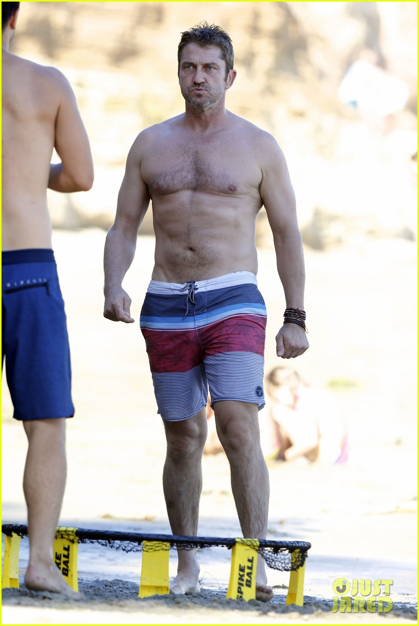 Curious.. gerard butler shirtless suggest you