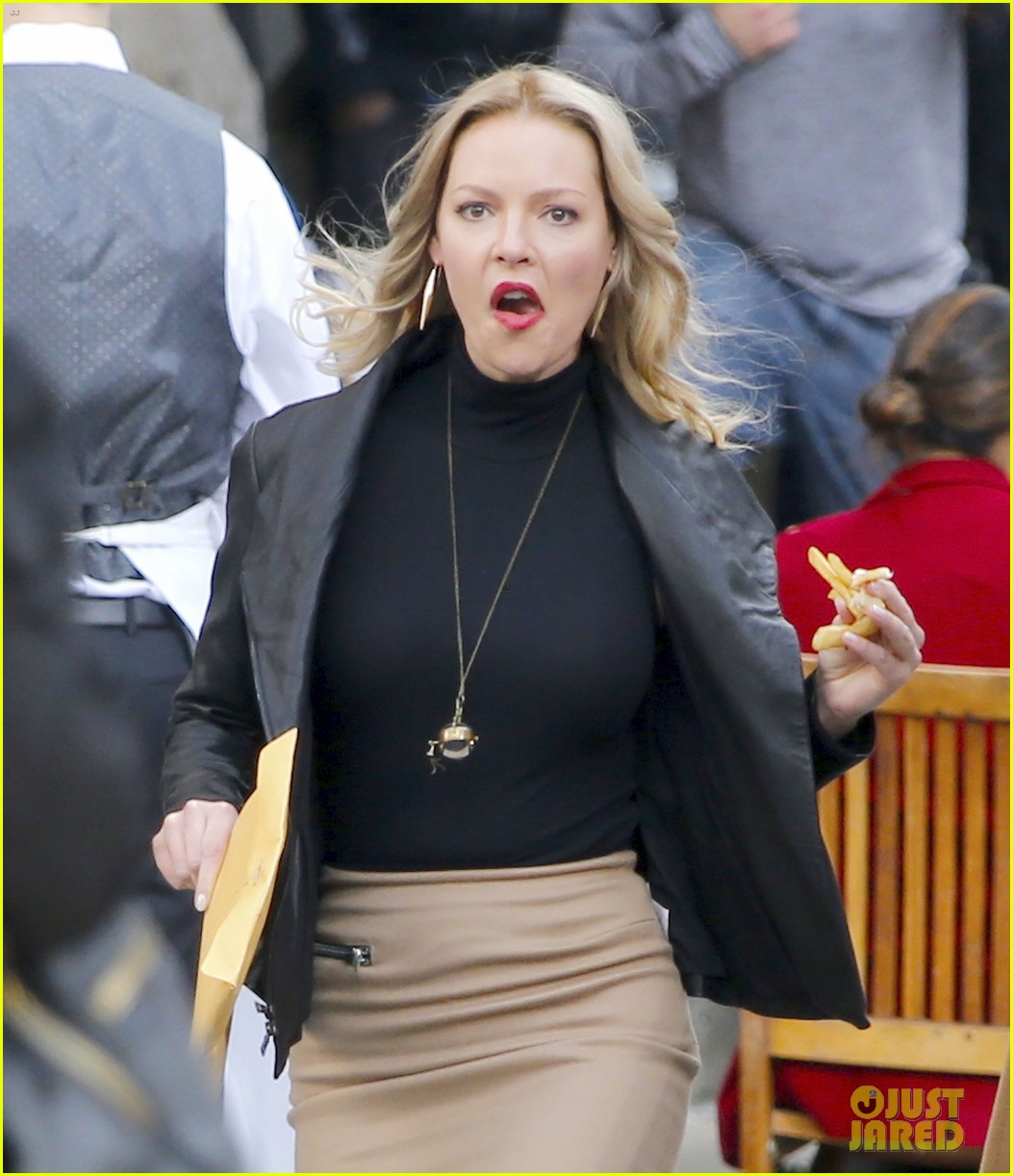 Katherine Heigl & Laverne Cox Get to Work on 'Doubt' in NYC: Photo ...