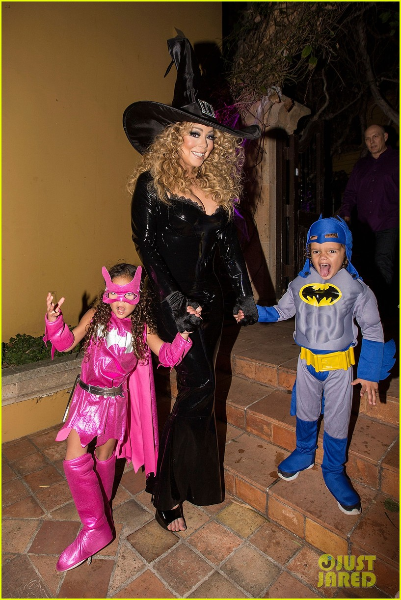 Mariah Carey Celebrates Halloween with Her Superhero Kids!: Photo ...