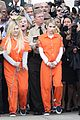 scream queens arrest orange suits lea michele eye patch 13